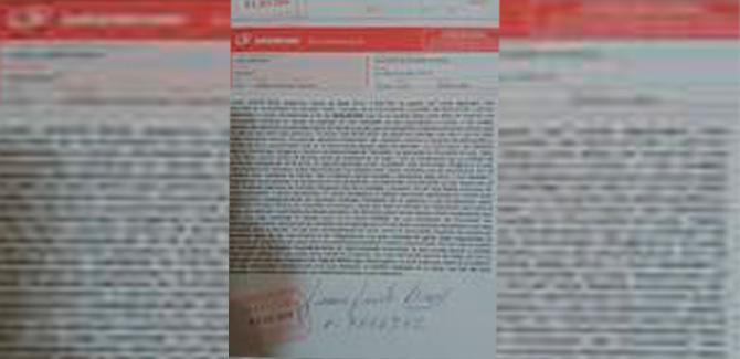 "Carta documento al INAI por falsa comunidad ""Tolombón"""
