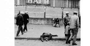 Muertos por inanición se extienden por las calles de Ucrania.