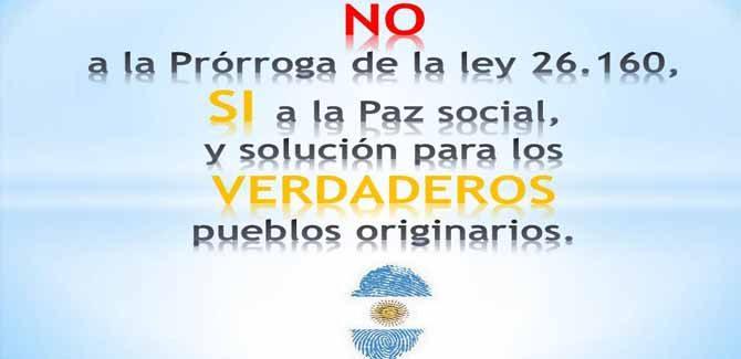 No a la prórroga de la ley 26.160