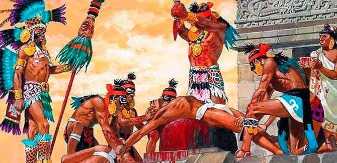 Las crueles torturas de los caníbales aztecas a la caravana de Hernán Cortés